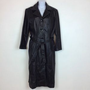 Wilsons Leather Thinsulate Belted Long Trench Coat